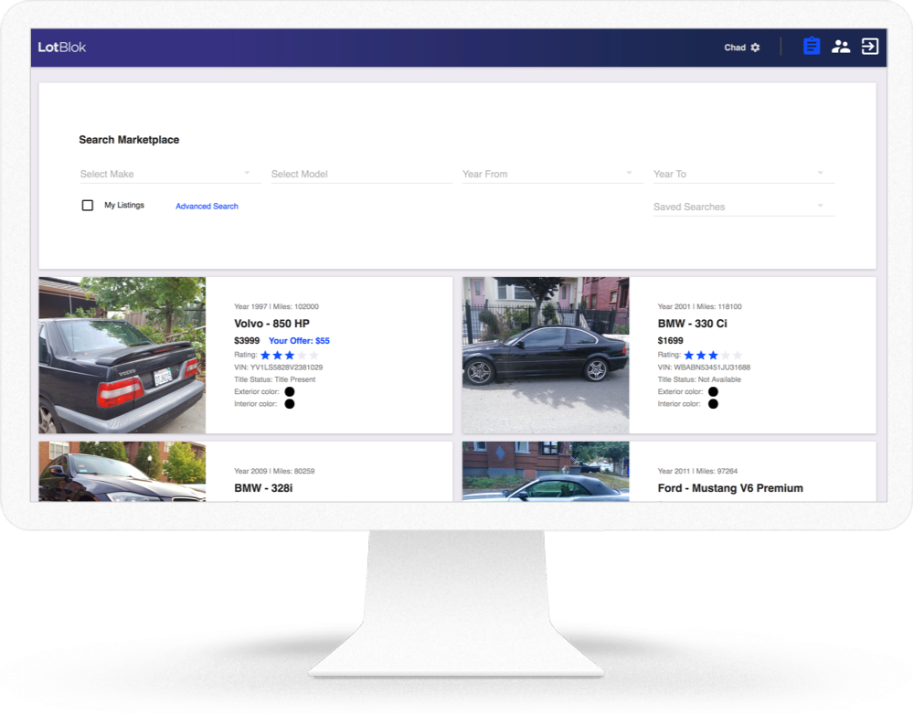 LotBlok Wholesale Automotive Marketplace