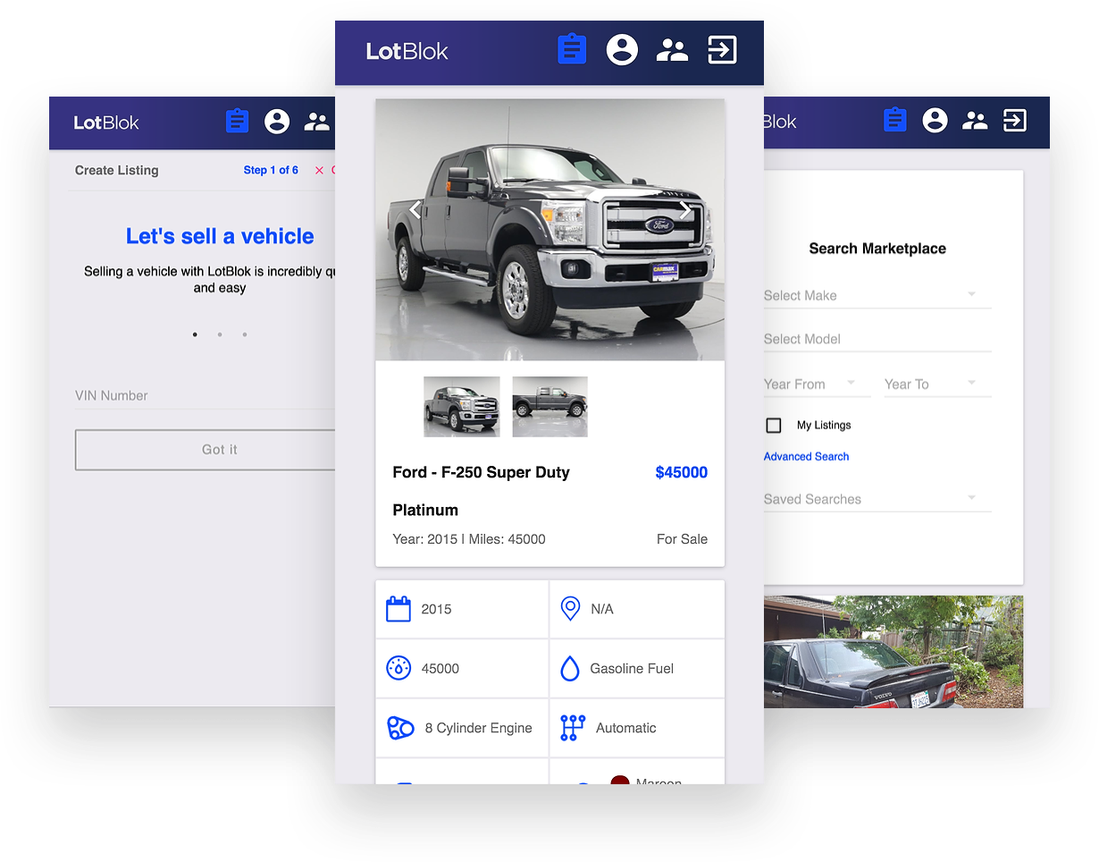 LotBlok Wholesale Automotive Mobile App